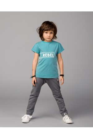T-shirt REBEL morski