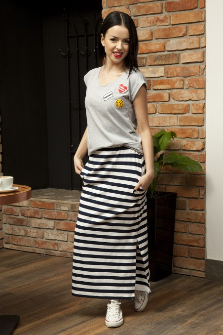 Long skirt stripes
